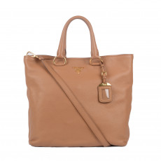 Prada Caramel Leather Vitello Daino Shopping Tote 01