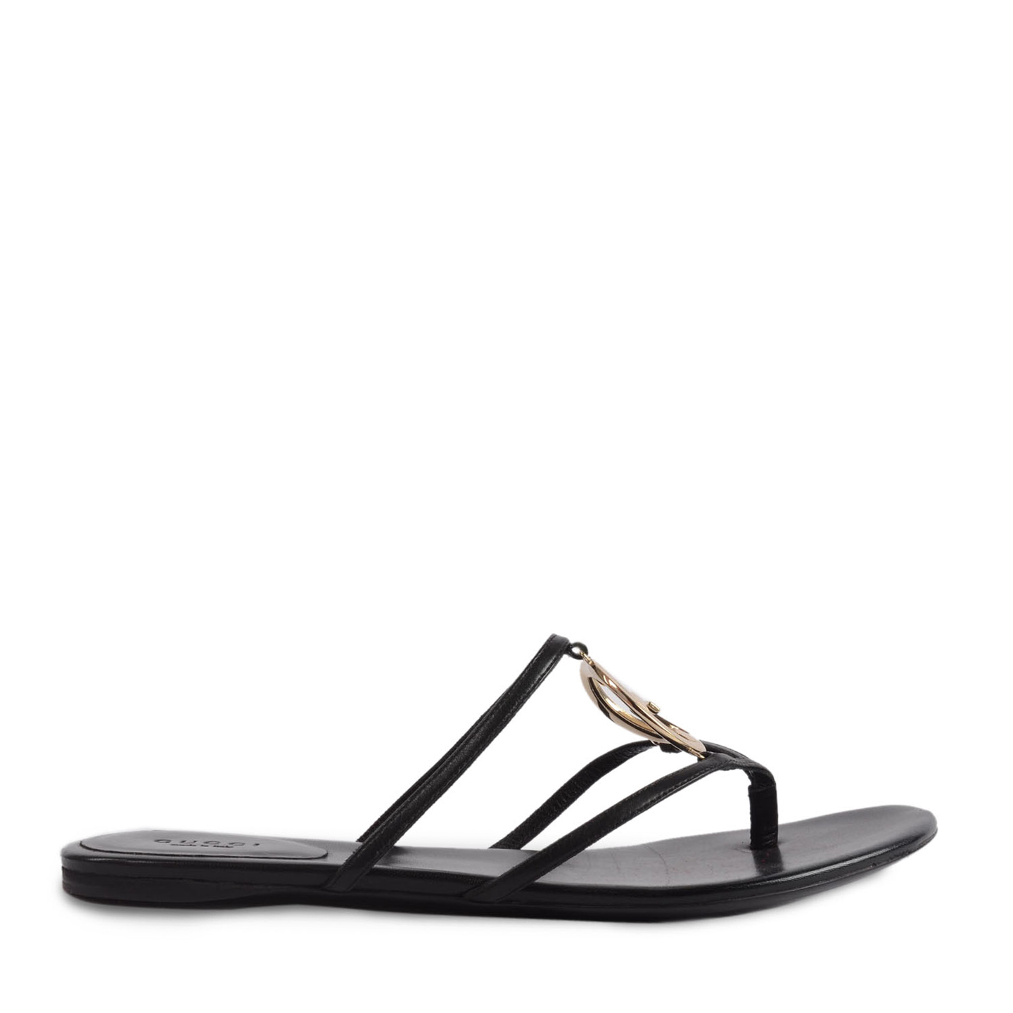 9084ee56a 4889 copy · Gucci Leather GG Cage Flat Thong Sandals Size 39 ...