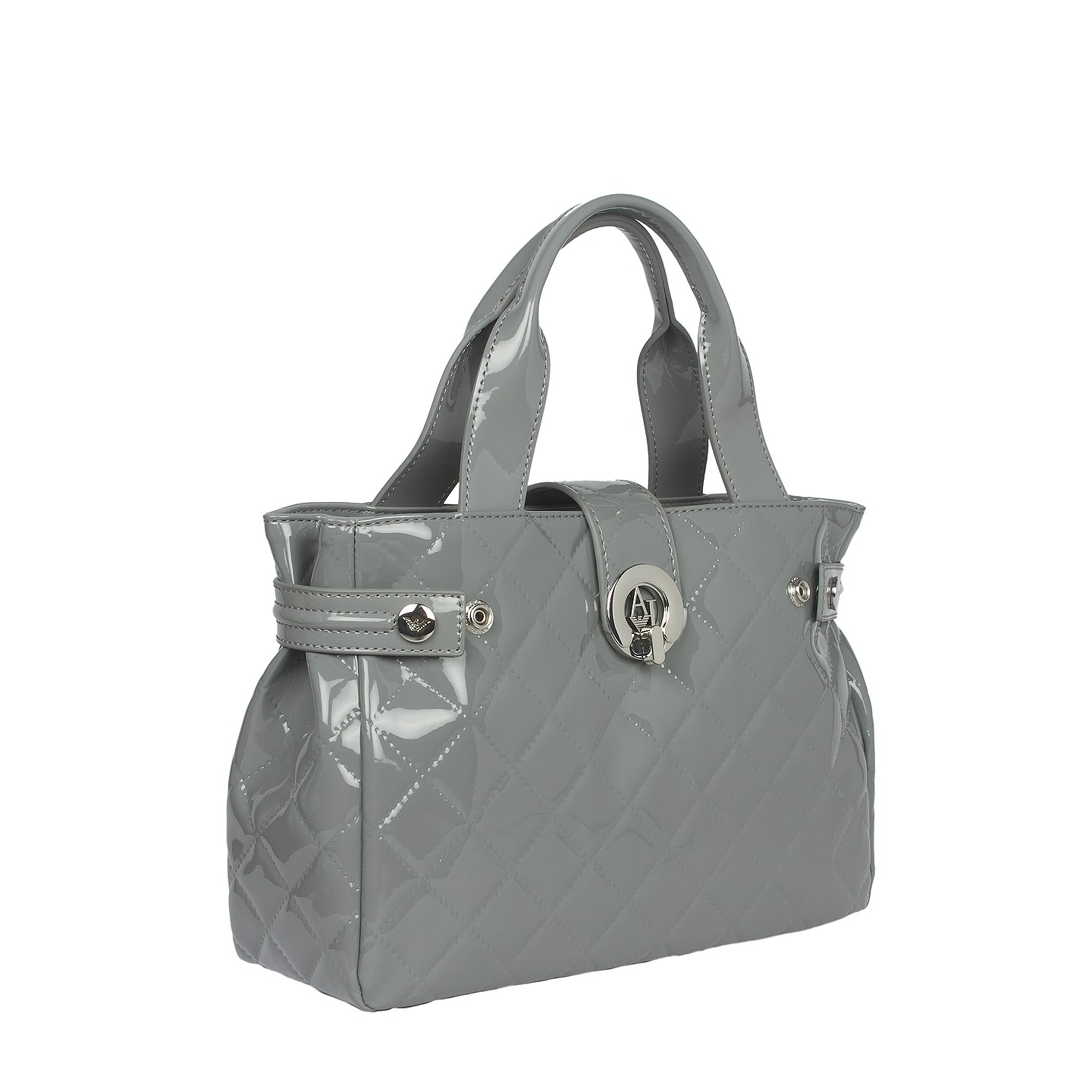 Armani Jeans V4 Patent Quilted East West Tote Bag - LabelCentric 13899e65bb5dd