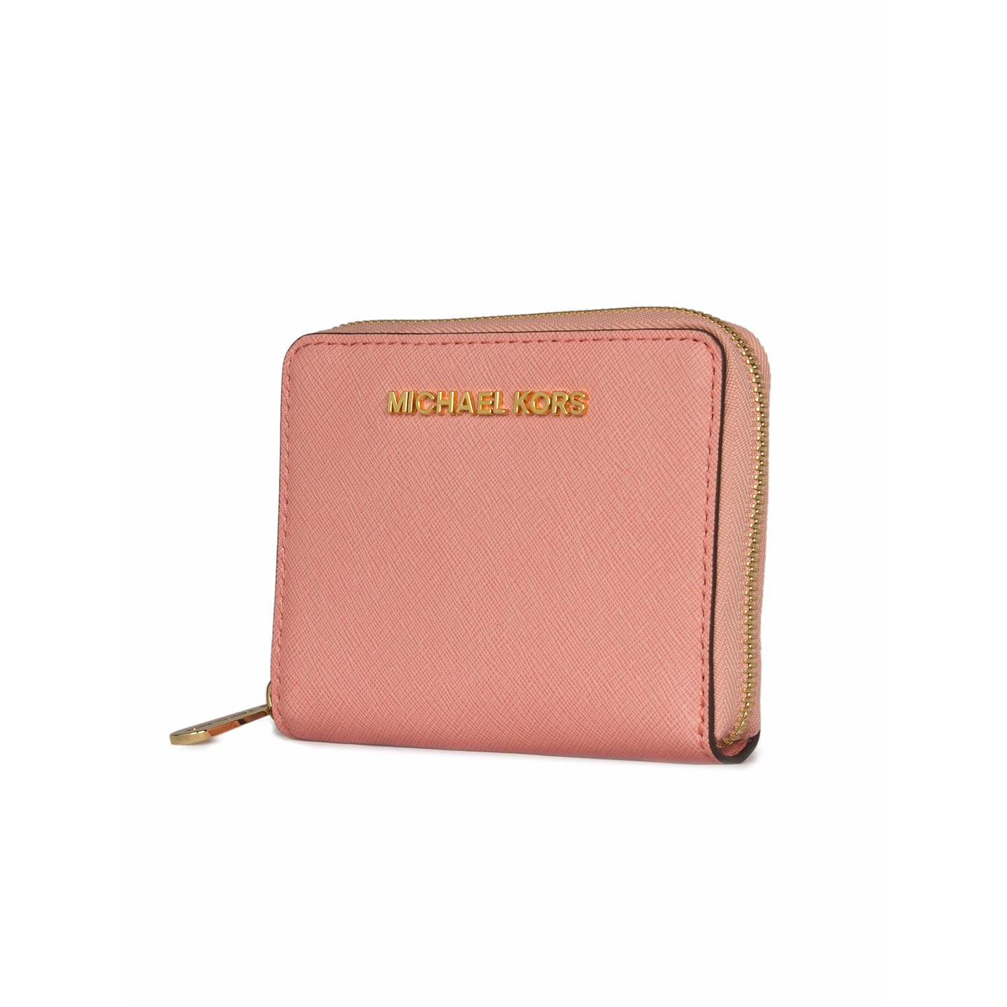 f2181f3218f0 Michael Kors Small Zip Around Leather Wallet - LabelCentric