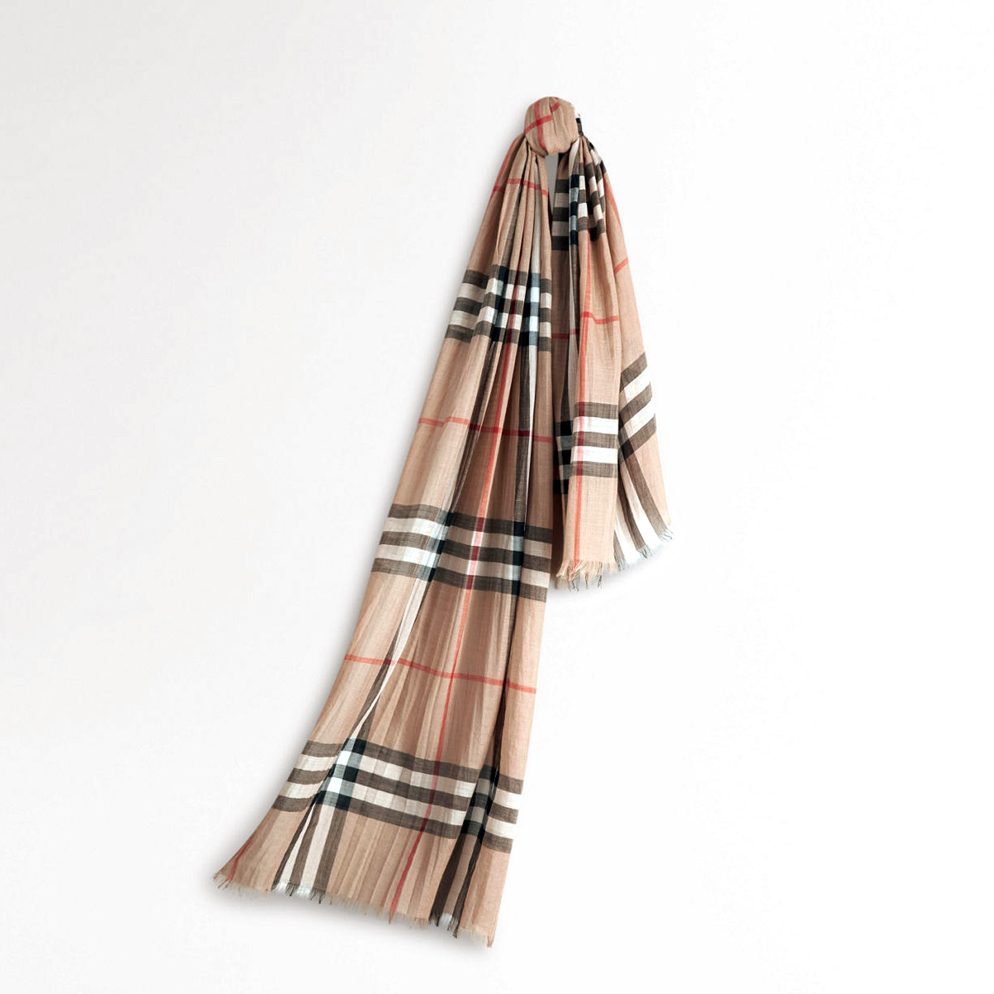 Burberry Lightweight Check Wool And Silk Scarf - LabelCentric 93a1d70031