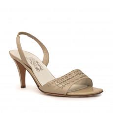 Salvatore Ferragamo Beige Slingback Sandals Size 38 1