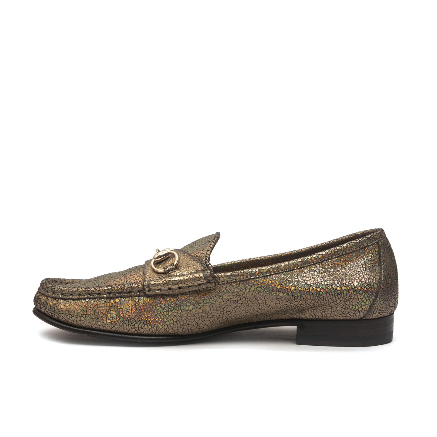 389a0c7db06e ... Gucci 60th Anniversary 1953 Horsebit Metallic Loafer Size 37 3 ...