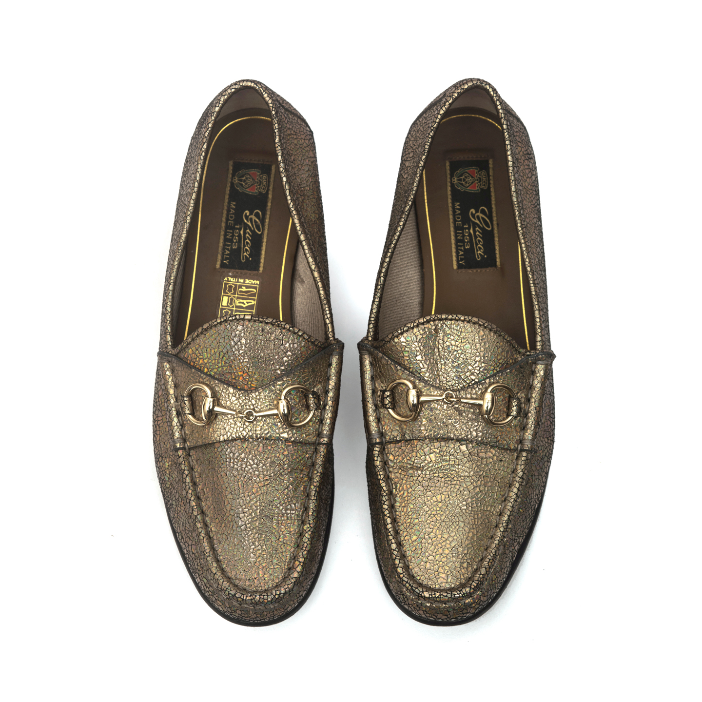 6f986a92727d ... Gucci 60th Anniversary 1953 Horsebit Metallic Loafer Size 37 ...