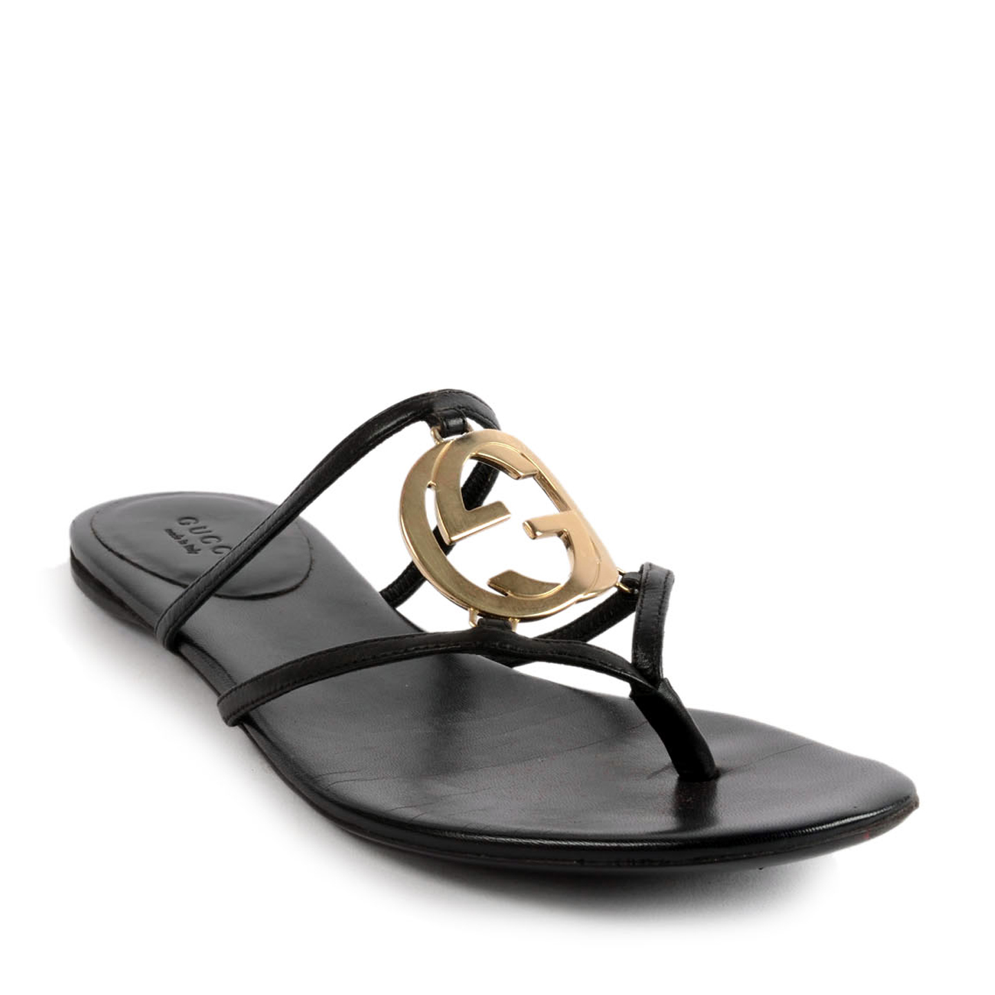 c7f6c6334 Gucci GG Cage Flat Thong Sandals Size 39 - LabelCentric