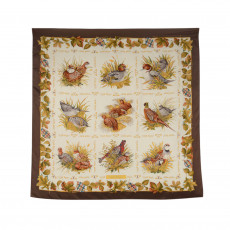 Salvatore Ferragamo Bird Printed Silk Square Scarf 01