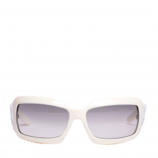 Chanel White Frame Mother Of Pearl CC Logo Sunglasses 5076-H