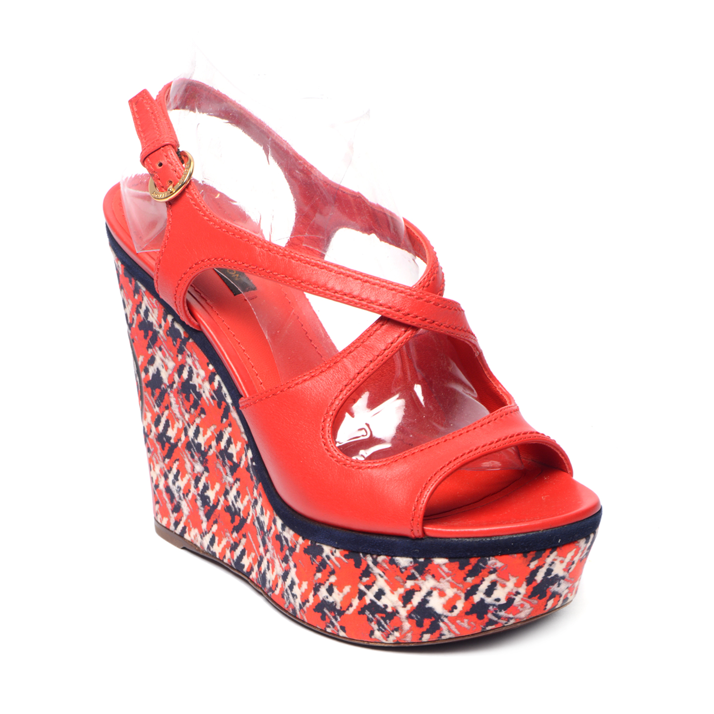 Louis Vuitton Red Postcard Wedges (01)