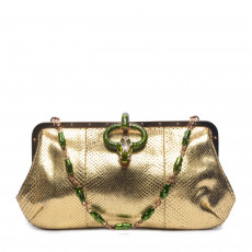 Tom Ford For Gucci Gilded Python Shoulder Bag