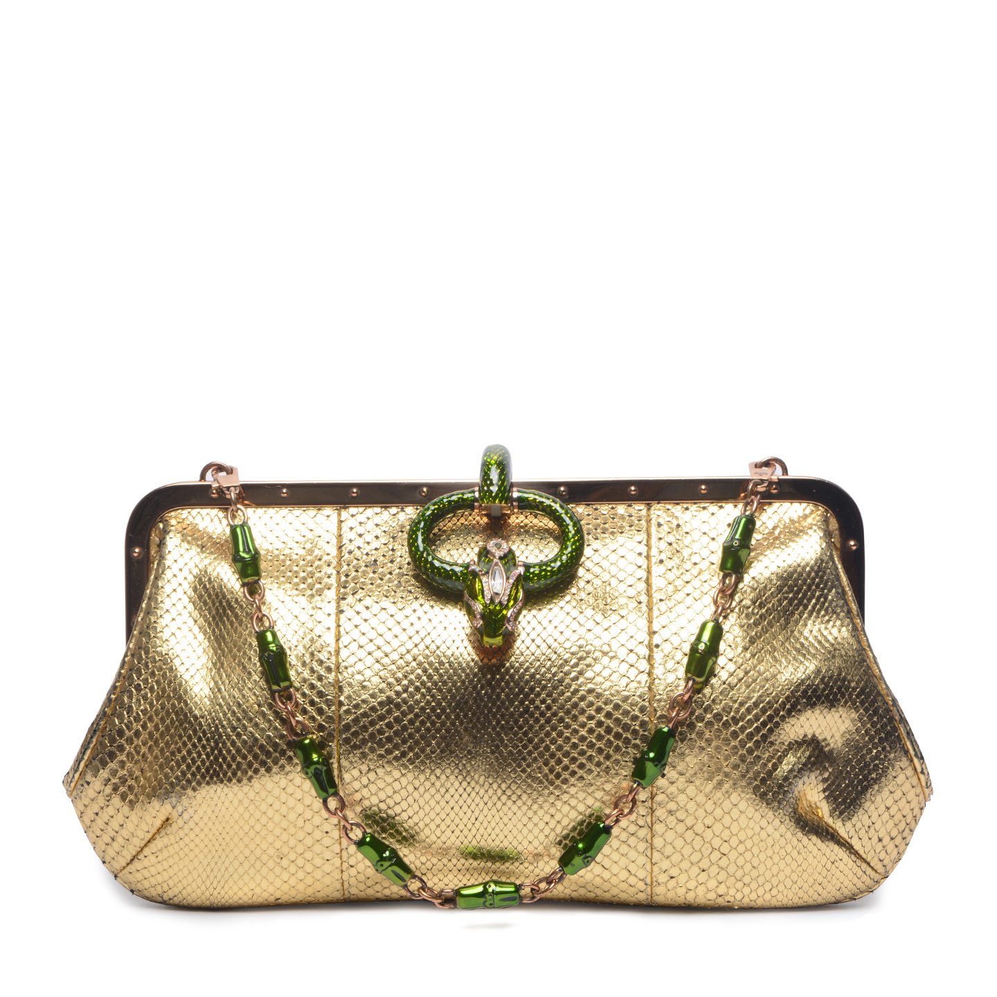 2b932e92d442 Tom Ford For Gucci Gilded Python Shoulder Bag