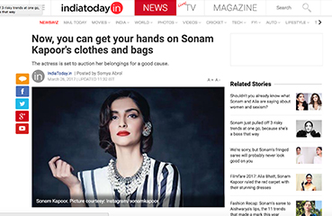 Now, you can get your hands on Sonam Kapoor's clothes and bags