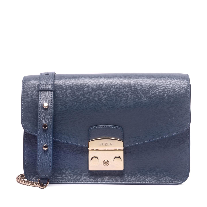 01e2f6439e Furla Navy Metropolis Shoulder Bag - LabelCentric