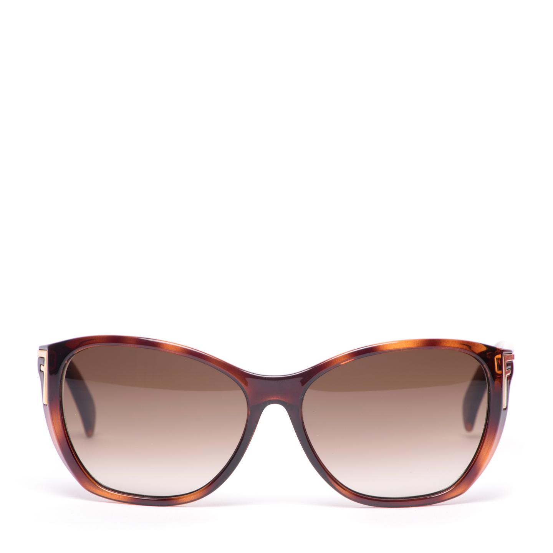 Fendi Havana Cat Eye Sunglasses FS5219
