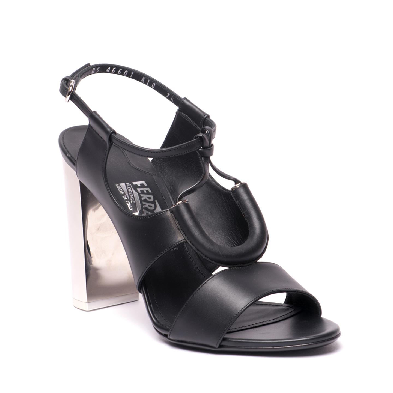 Salvatore Ferragamo Galilea Tubular Leather Sandal (01)