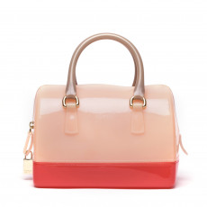 Furla Tri Color Glossy Rubber Mini Candy Satchel (01)