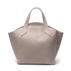 Furla Croc Embossed Leather 'Jucca' Tote (01)