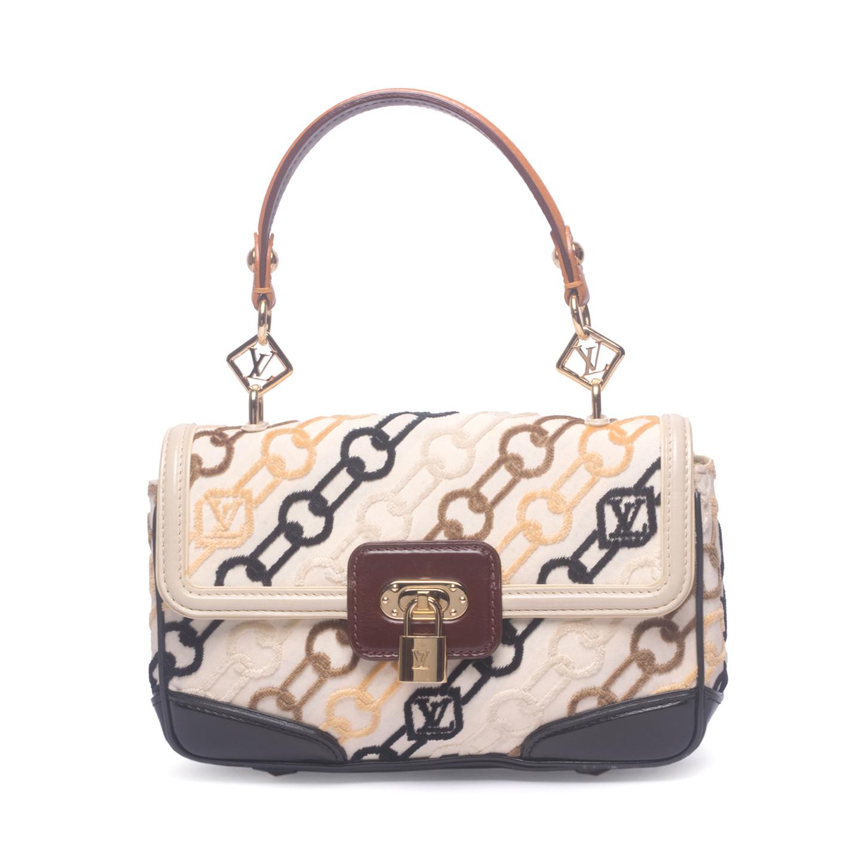 Louis Vuitton Monogram Charms Velvet Chains Pochette Rabat Bag (01)