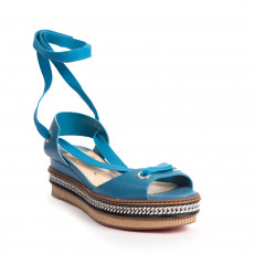 Christian Louboutin Tribuli Lace-Up Wedge Sandals (01)