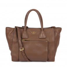 Prada Front Pocket Wing Convertible Tote Vitello Daino (01)