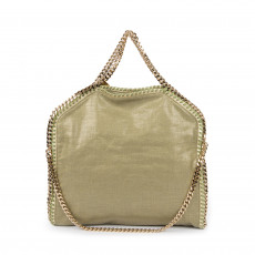 Stella McCartney Metallic Linen Green Falabella Tote (01)