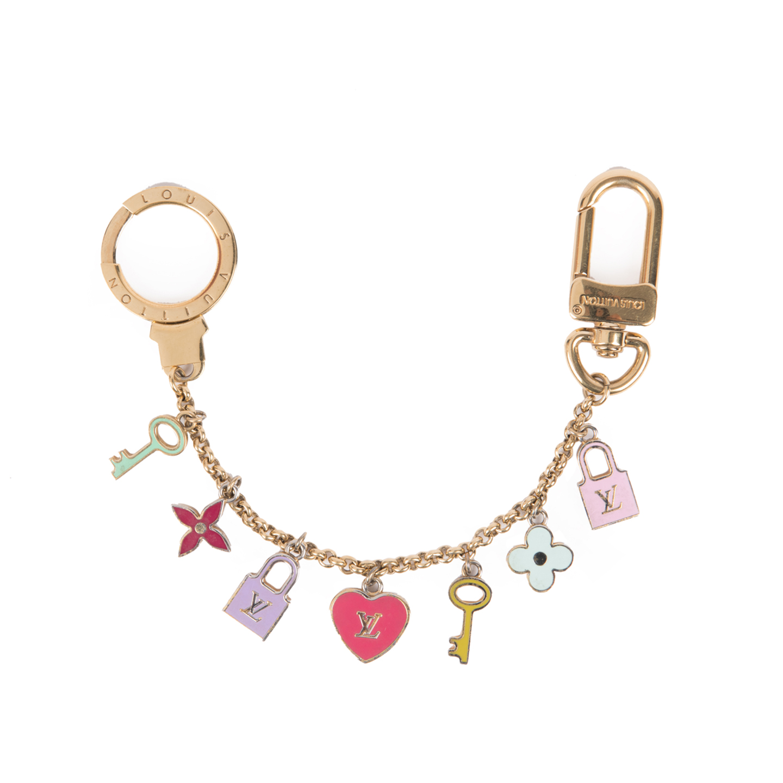 Louis vuitton enamel pretty charms key holder and bag charm louis vuitton enamel pretty charms key holder and bag charm biocorpaavc Images