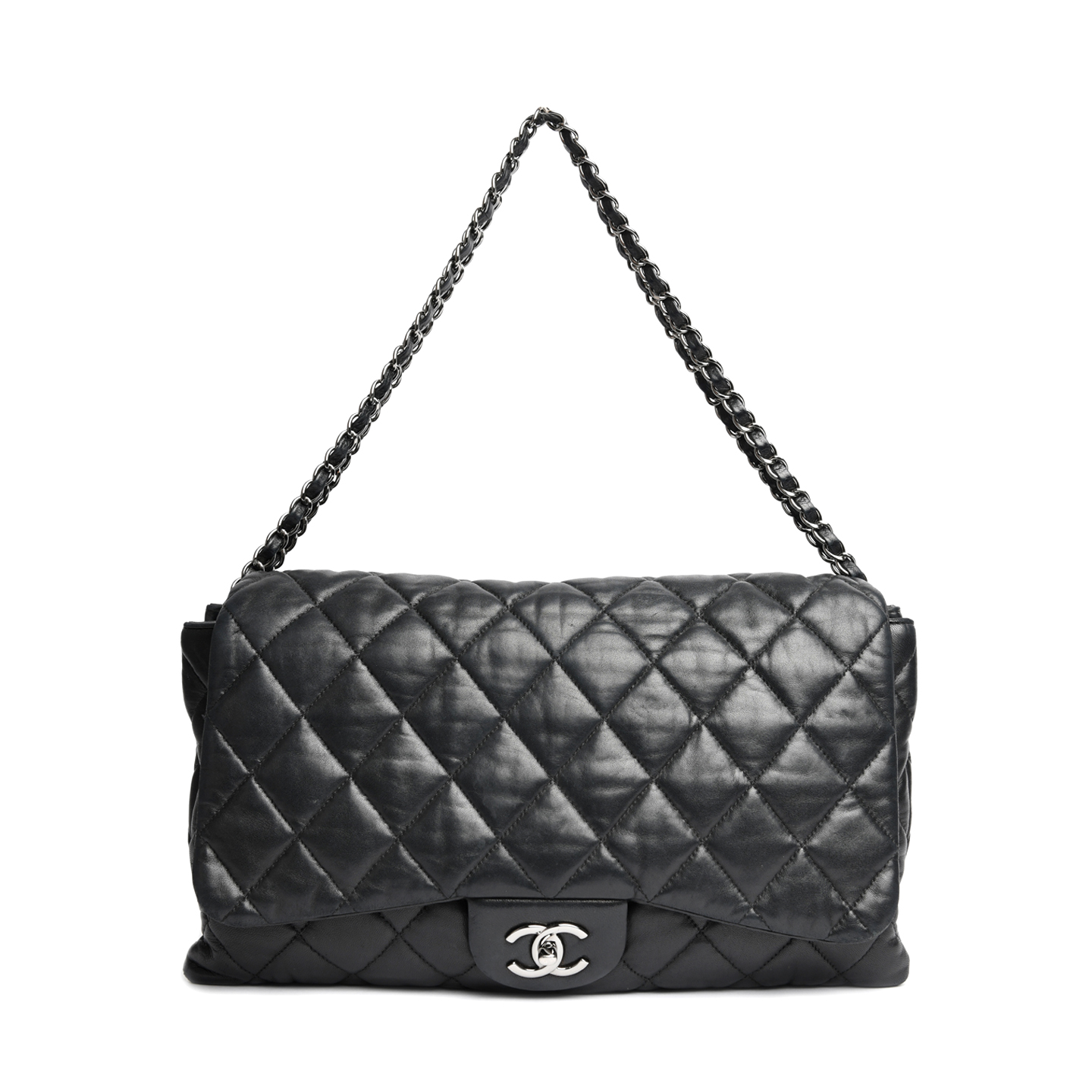 4bcdaf40c8e1 Chanel Lambskin Leather 3 Accordion Maxi Flap Bag - LabelCentric
