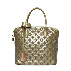 LOUIS VUITTON Limited Edition Gris Monogram Fascination Lockit Bag 01