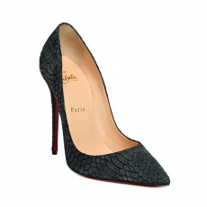 Christian Louboutin Ash Grey Python So Kate Pumps 01