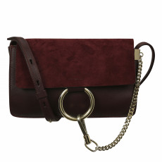 Chloé Faye Small Shoulder Bag, Purple 01