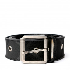Burberry Grommet Black Check Belt 01