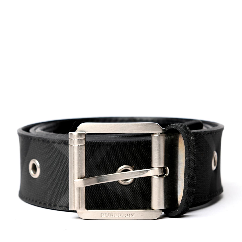 Burberry Grommet Black Check Belt 01