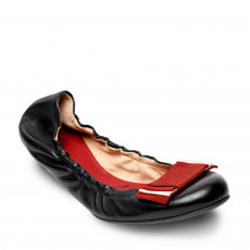 Bally Black Leather 'Beatris' Ballet Flats 01