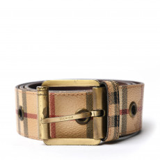 Burberry Grommet Haymarket Check Belt 01