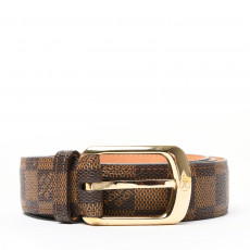 Louis Vuitton Damier Ebene Ellipse Belt Belt 01