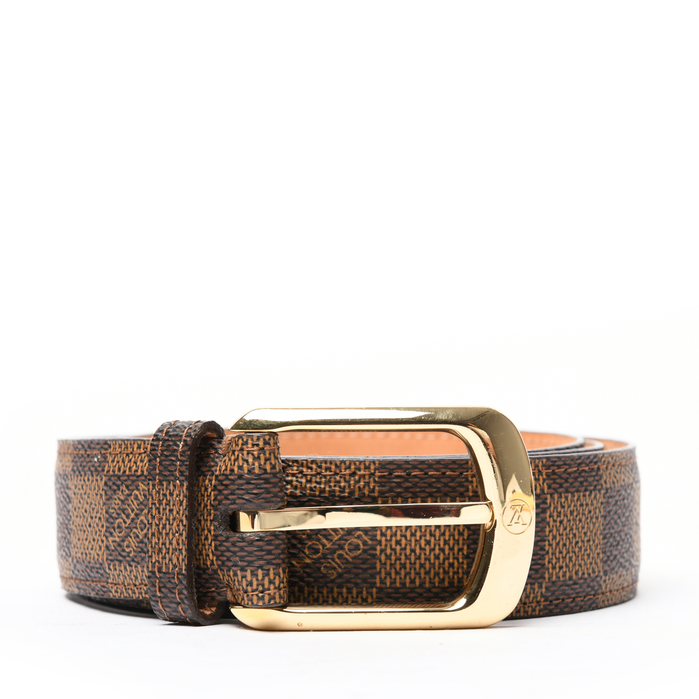 833667337afb Louis Vuitton Damier Ebene Ellipse 30MM Belt