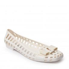 Salvatore Ferragamo White Jelly Ballet Flats 01