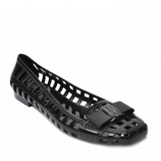 Salvatore Ferragamo Black Jelly Ballet Flats 01