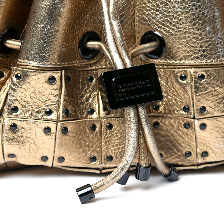 Burberry Prorsum Studded Warrior Metallic Gold Bag - LabelCentric 3d7aa14b91f0a