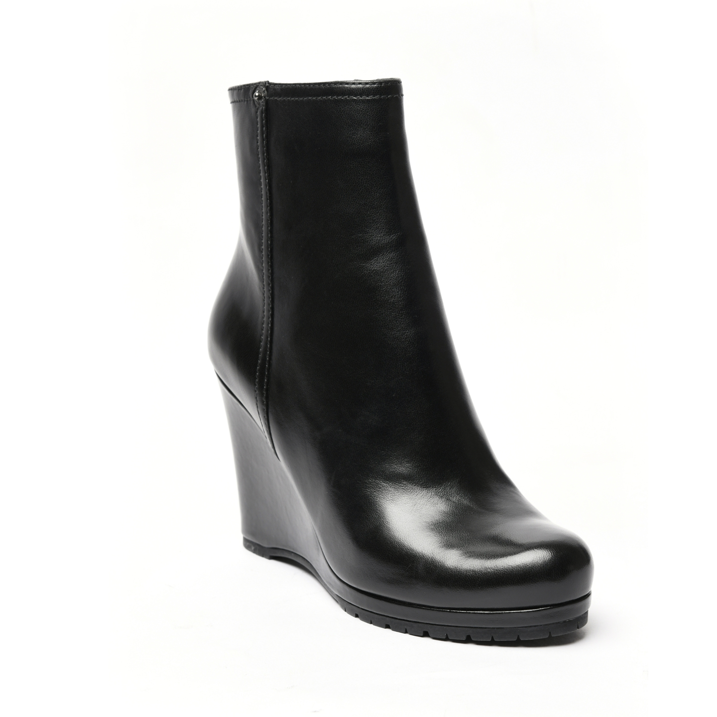 new concept 57e44 4d928 Prada Calzature Donna Ankle Wedge Boots, Size 36.5 - LabelCentric