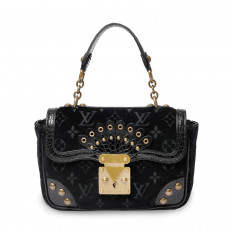 Louis Vuitton Limited Edition Black Velours Alligator Irvine Bag 01