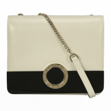 Bvlgari Flap Cover Black and White Shoulder Bag 01