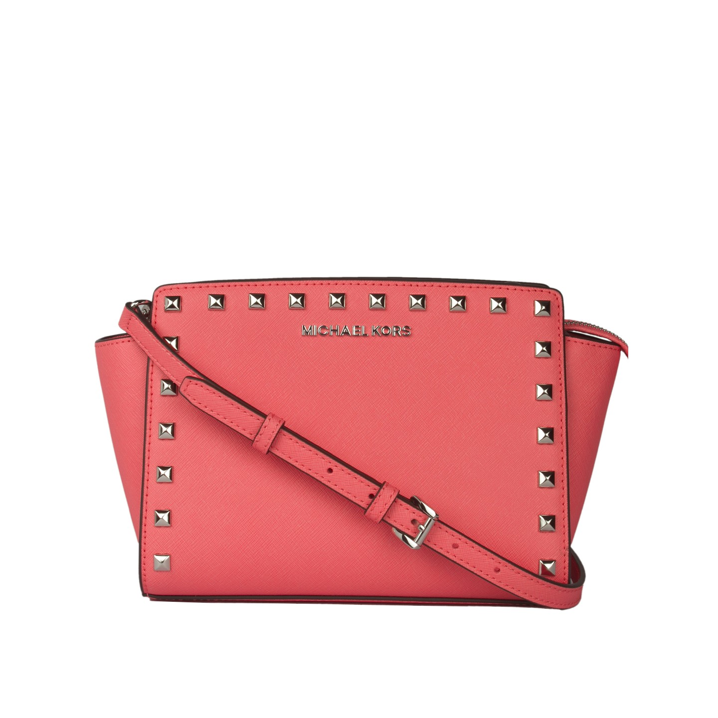 0a767d779b7f ... flap card holder studded wallet 96699 c57cd; canada michael kors selma  mini saffiano leather studded crossbody sling bag 01 a7872 79ac8