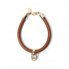 Coach Pave Signature C Leather Bracelet 01
