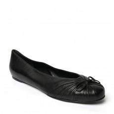 Salvatore Ferragamo Black Recanati Ballet Flats 01