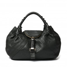 Fendi Black Nappa Leather Spy Bag 01