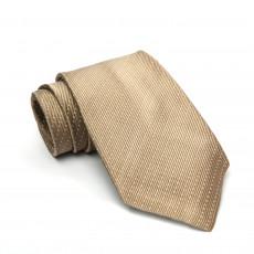 Prada Champagne Diagonal Dotted Silk Tie  01