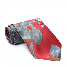 Dolce & Gabbana Red Silk Printed Tie 01