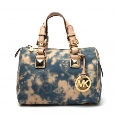 Michael Kors Tie-Dye Denim Small Grayson Satchel 01