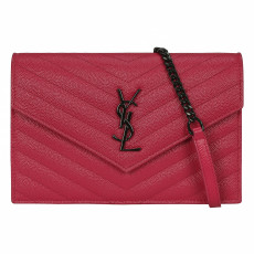 Saint Laurent Monogram Quilted Leather Crossbody Bag 01