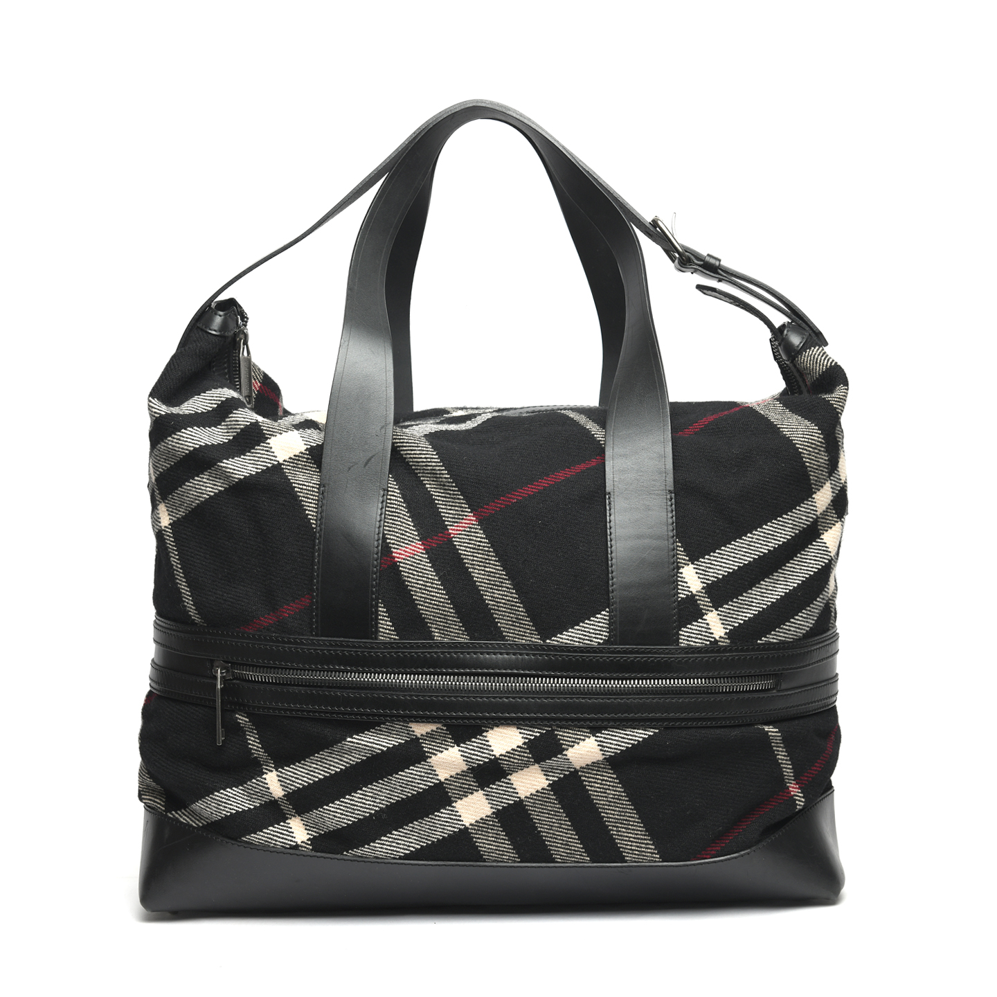 be68dbb40360 Burberry Wool Novacheck Large Weekender Duffle Bag - LabelCentric